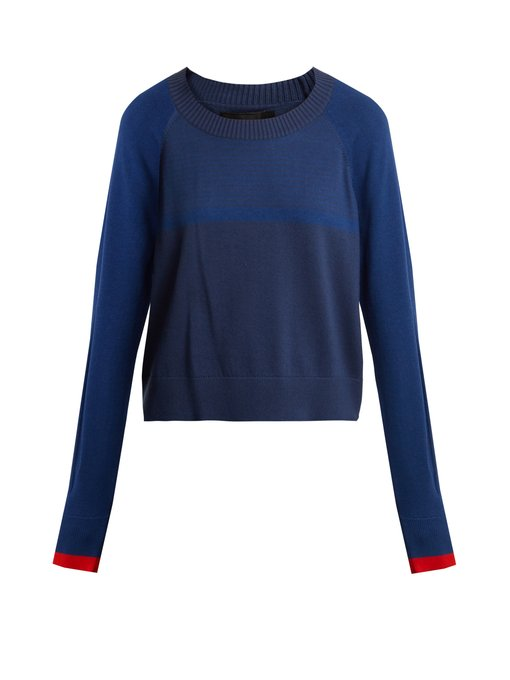 Prism Contrast -panel cotton blend sweater