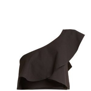 Hayo one-shoulder ruffle crop-top